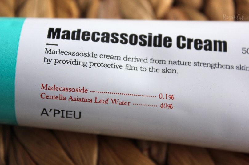 How to repair your Skin Barrier: A'pieu Madecassoside Cream (with